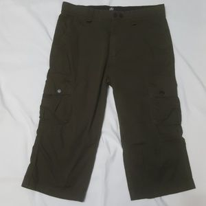 Micros OLIVE GREEN CARGO LONG SHORTS 32X18